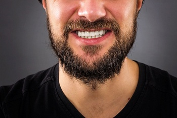 Man with clinched teeth