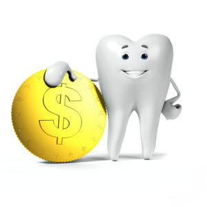 tooth with money